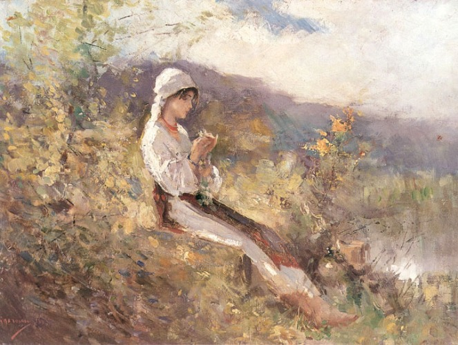 Nicolae-Grigorescu-Femeie-sezand